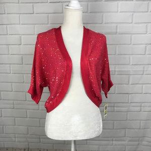 INC International Concepts Cardigan Shrug Pink Seq